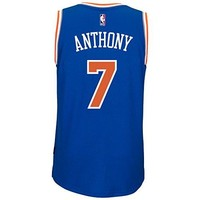 Carmelo Anthony New York Knicks Adidas Road Swingman Jersey (Blue)