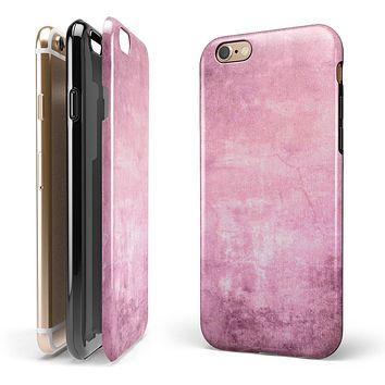 Pink Grungy Surface Texture 2-Piece Hybrid INK-Fuzed Case for the iPhone 6/6s or 6/6s Plus