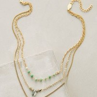 Astree Layered Necklace by Anthropologie Green Motif One Size Necklaces