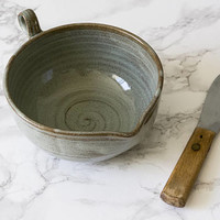 Gift for Cook / Gravy Dish / Pottery Batter Bowl / Small Pottery Whisking Bowl / Sauce Dish / Ceramic Serving Dish / Rustic Pottery