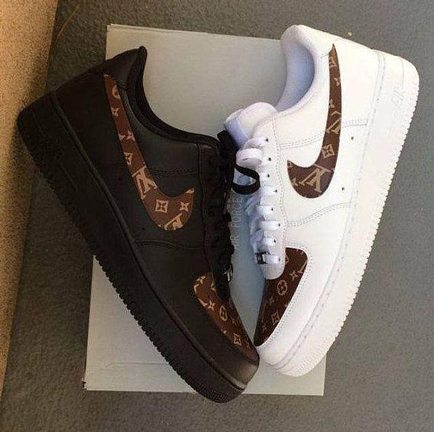 Image of LV x Nike Air Force 1 low-top flat sneakers shoes