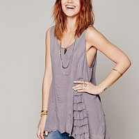 Free People Womens Ruffled Up Cami