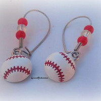 Baseball Softball Earrings,Baseball Season,Sports Lover Gift,Sports Mom, National Pastime,Sports Teams Earring,Ready to Ship,Direct Checkout