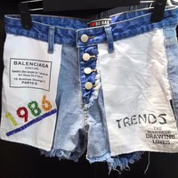 Balenciaga Women Denim Short