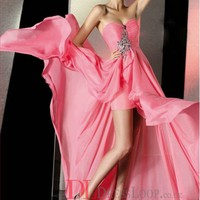 A-Line Sweetheart Chiffon Watermelon Long Prom Dress/Evening Gowns With Rhinestone VTC725