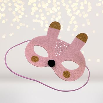 Kids Bunny Rabbit Felt Costume Face Mask
