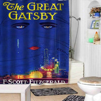 Great Gatsby shower curtains adorabel bathroom and heppy shower.