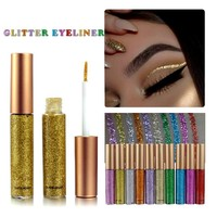 New Brand 10 Colors White Gold Glitter Eyeliner Eyeshadow For Waterproof Easy to Wear Liquid Eyeliner Makeup Eye Liner Beauty