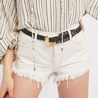 Free People Sleek Stud Leather Belt