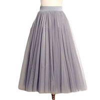 Summer Women Tutu Skirts Tulle Maxi Midi High Quality Vintage Pleated Long White American Apparel Skater MF489562