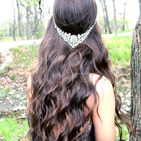 Princess Floater Bridal Hair Piece,  Hair Jewelry, Wedding hair accessories, Headpiece, Bridal Floater, Prom, Bridesmaids