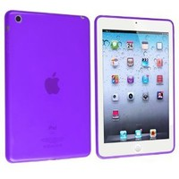 eForCity TPU Case for Apple iPad mini, Frost Clear Purple (PAPPIPDMSC23)