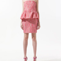 DRESS WITH FRILL AT THE HIP