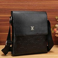 Louis Vuitton LV Men Leather Office Bag Satchel Shoulder Bag Crossbody