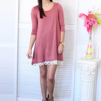 On My Mind Basic Tunic {Marsala}