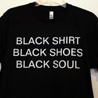 black everything shirt medium