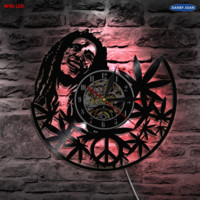 Bob Marley 3D Wall Lamp Antique Style Vinyl Record Light Living Room Art Wall Decorative Lamp With Color Changing
