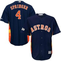 Men's Houston Astros George Springer Majestic Navy 2017 Postseason Cool Base Player Jersey