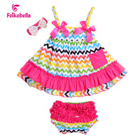 Halloween Newborn Baby Girl Clothes Cotton Girl Dress Carters Sling T-Shirt + Bloomers 3 pcs Baby Girl Clothing Infants Set 2015