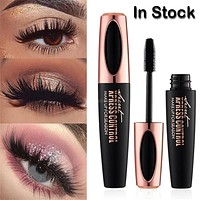 2018 Makeup Eyelash Mascara Eye Lashes Makeup 4D Silk Fiber Lash Mascara New Long Curling Black Waterproof Fiber Mascara