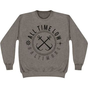 All Time Low Men's  Seasick Sweatshirt Grey