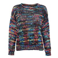 ZLYC Rainbow Drops Multi Colored Chunky Knitted Jumper for Girls