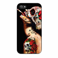 Floral Sugar Skull Tattooed iPhone 5 Case