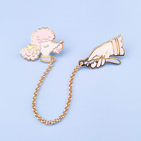 Pink Toy Poodle Pin