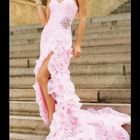 WowDresses — Enhancing Pink Sheath/Column Sweetheart Asymmetrical Prom Dress