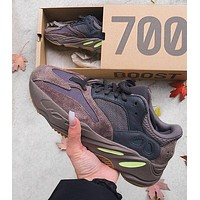 Adidas Yeezy 700 Runner Boost Fashion Casual Running Sport Shoes Coffee