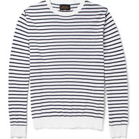 Beams Plus - Striped Knitted-Cotton Sweater | MR PORTER