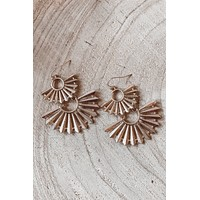 Just A Fling Gold Statement Earrings