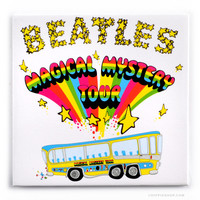 The Beatles Magical Mystery Tour Magnet on Sale for $3.99 at The Hippie Shop