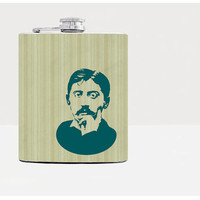 Proust hip flask - Cool present - Gift for him, for her - Hip flask - Unique gift for men - Rum flask - Funny gift