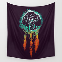 Dream Catcher (the rustic magic) Wall Tapestry by Budi Satria Kwan