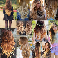 61 Colors Bath & Beauty 12 sets Wig wavy hair synthetic hair extension hairpieces wavy slice curly hairpiece 1208,Hair Care,fashion Cosplay ombre 1PCS
