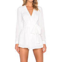 The Fifth Label The High Road Long Sleeve Playsuit in Ivory