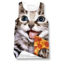 Happy Pizza Cat Tank