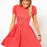 ASOS T-Shirt Skater Dress In Nepi