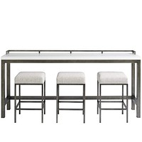 Alchemy Living Gallery Engage Console Table w/Stools - White