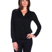Majestic Blouse with Sheer Back - Black