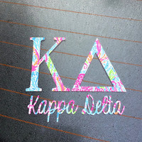 Kappa Delta Lilly Pulitzer Decal