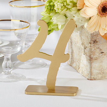Classic Gold Table Numbers (Set of 6)