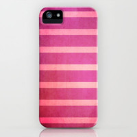 stripes (pink) iPhone & iPod Case by daniellebourland