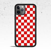 Checkerboard Red Phone Case Cover for Apple iPhone Samsung Galaxy S & Note