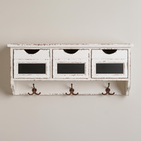 3-Slot Hook Wall Cubby - World Market