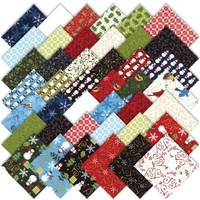 """Moda Share the Joy Christmas Charm Pack 5"""" Quilt Squares   AihaZone Store"""