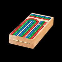 Foldable Wooden Cribbage Game Board