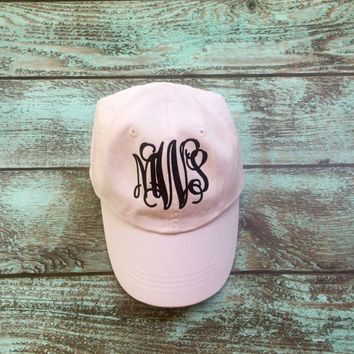 Monogrammed Baseball Cap, Monogrammed hats, Women's , Monogrammed Gifts Bridesmaid gifts