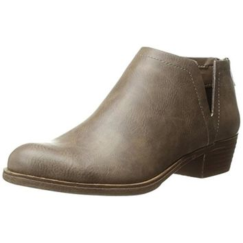 Sugar Womens Tessa Faux Leather Stacked Heel Ankle Boots